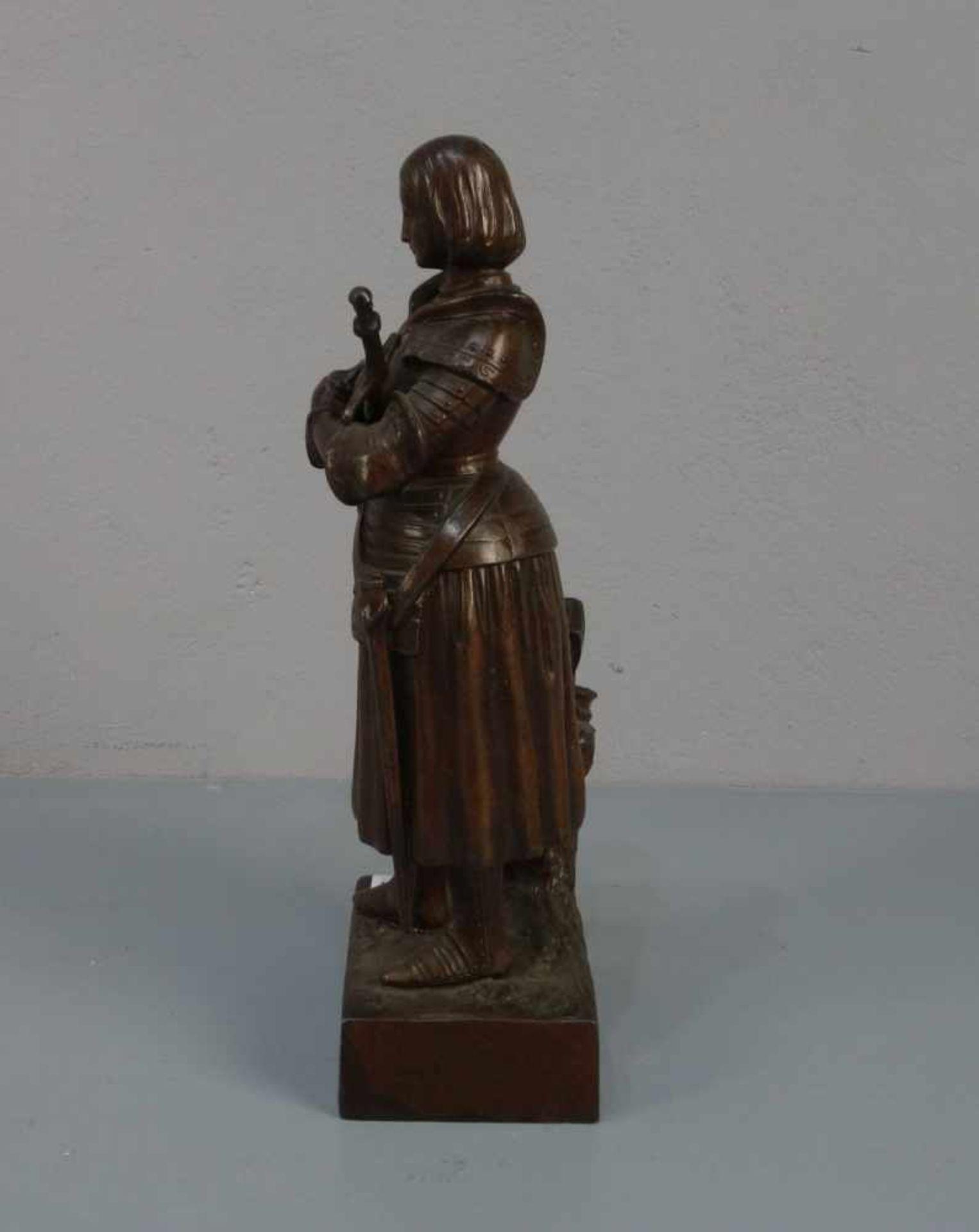 """BILDHAUER DES 19./20. JH., Skulptur / sculpture: """"Jeanne d'Arc avant le Combat (Jeanne d'Arc vor dem - Bild 2 aus 4"""