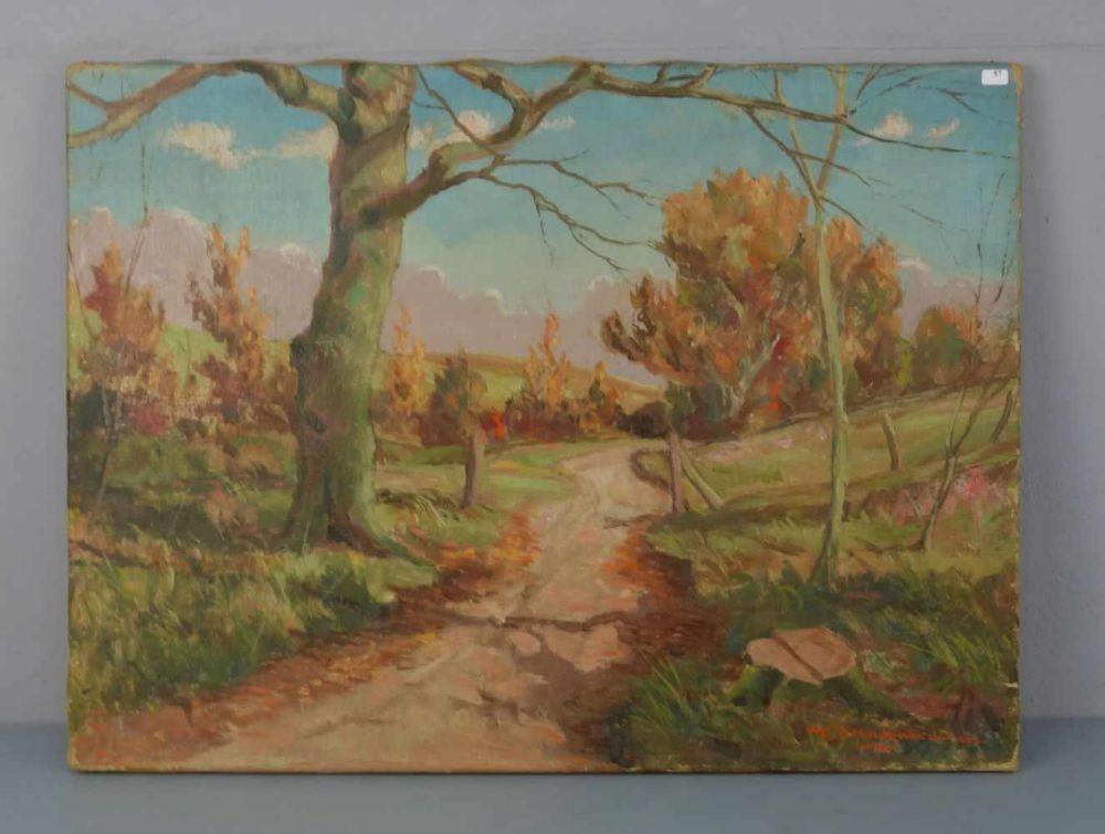BRAENDGAARD-ANDERSEN, ALFRED (dänischer Landschaftsmaler, geb. 1901 in Aarhus), Gemälde / painting: