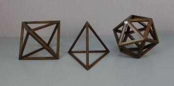 GEOMETRISCHE SKULPTUREN / wooden sculptures: STEREOMETRISCHE FIGUREN / PLATONISCHE KÖRPER: