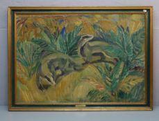 KYHN, KNUD (Frederiksberg 1880-1969 Farum, dänischer Animalier / Maler und Bildhauer), Gemälde /