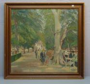"MEYER, JACOB (Kopenhagen 1895-1971 ebd.), Gemälde / painting: ""Park mit Ausflugslokal - Peter Lieps"