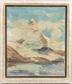 OTTO ULMER , Matterhorn, Spachtelarbeit/Lw, 1947
