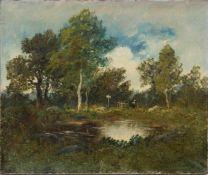 JOHAN ANKER, Landschaft mit See, Öl/Lw, 20. Jh<