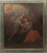 UNBEKANNTER KÜNSTLER, Jesus im Garten Gethsemane, Öl/ Lw, 18. Jh<b
