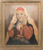 G. CIMOVRICY, Portrait einer jungen Frau, Öl/Lw, 20. Jh<