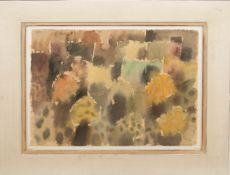 Eduard Bargheer, Farbkomposition, Wasserfarben auf Bütte, 20. Jh.