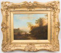 H. J. Gerardus, Italienische Landschaft, Öl/Leinwand, Niederlande, 19. Jh.
