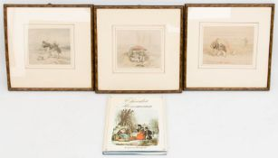 Theodor Hosemann, Drei kolorierte Zeichnungen, Deutschland, 19. Jh.