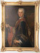 Portrait Friedrichs des Großen in Rüstung, Öl/Leinwand, Deutschland 18. Jh.
