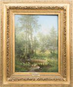 Eduard Emil August Leonhardi, Loschwitz' grüne Weiden, Öl/Holz, 1895.