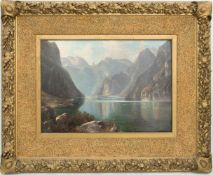 Bergseelandschaft, nach Hermann Kiekebusch, Öl/Leinwand, Deutschland 19./20. Jh.