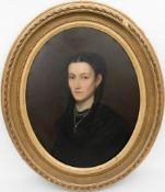 Johann Friedrich Baumann, Portrait einer Dame, Öl/Leinwand, Deutschland 1809.