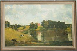 Signiert John Constable, Wivenhoe Park, Essex, Öl/Leinwand, 20. Jh.
