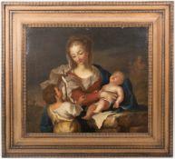 o.S. Heilige Maria mit Johannes, Öl/Leinwand, 19. Jh.