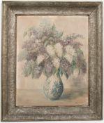 Steff Menzel, Blumenstillleben, Acryl/Karton, 20. JhUnten rechts signiert. 61 x 77 cm o.R.83 x 100