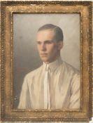 Margarethe Simrock-Michael, Herrenbildnis, Öl/Leinwand, 1927.Das Werk ist links mittig signiert,. 43