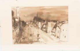 Karl Mostböck, Heya, Aquarell auf Papier, 1949.Karl Mostböck (1921 - 2013).Hinter Glas und im