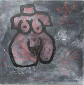 A.R. Penck, Luna, Acryl/Öl auf Gips und Holz, Deutschland 20. Jh.Das Werk ist vorne und hinten