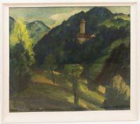 Hans Kobinger, Ansicht auf Burg Wildberg, Mischtechnik auf Papier, 20. Jh.Hans Kobinger (1892 -