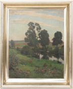 Hans Richard von Volkmann, Landschaftsstudie, Öl auf Leinwand, 1906.Hans Richard von Volkmann (