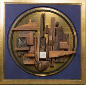 Reinhard Normann, Holzskulptur auf Goldgrund, Deutschland 20. Jh.Massives, prachtvoll gerahmtes