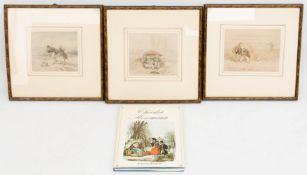 Theodor Hosemann, Drei kolorierte Zeichnungen, Deutschland, 19. Jh.Theodor Hosemann (1807 - 1875)
