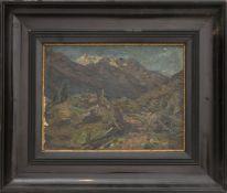 Landschaftsansicht, Öl auf Leinwand, 19. Jh.
