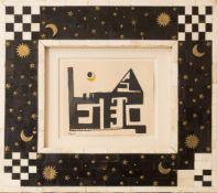 Thilo Maatsch, Abstrakte Komposition, Tusche auf Papier.
