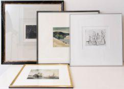 Bilderkonvolut, Radierung, Aquarell und Fotografie.