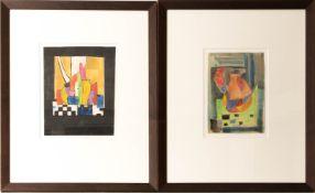 Paar abstrakte Studien, Acryl auf Papier.
