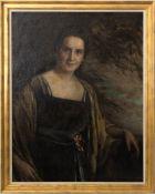 Georg Waltenberger, Damenportait, Öl auf Leinwand, Deutschland 20. Jh.