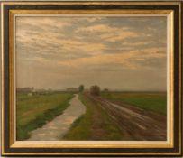 Karl Otto Matthaei, Landschaftsansicht, Öl auf Leinwand. 19. / 20. Jh.