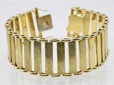 Breites goldenes Gliederarmband, 80-er Jahre.