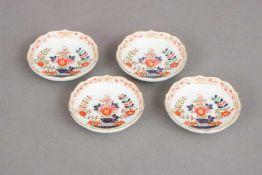 4 MEISSEN Porzellanschälchen¨Indisches Dekor¨, runde Kandisschälchen mit Goldrand, Ausführung d