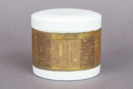 ROSENTHAL studio-line Deckeldoseum 1970, zylindrischer Korpus mit gewölbtem, aufgestecktem Deck