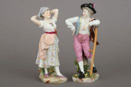 Paar SCHIERHOLZ/PLAUE Porzellanfiguren ¨Schäfer und Bäuerin¨