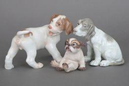 3 dänische Porzellanfiguren ¨Hunde¨