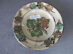 Antiker Teller Keramik Haarriss Durchmesser 22cm