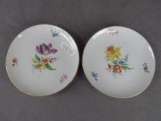 Zwei Meissen Teller Blumenmuster 2.Wahl Durchmesser ca:19,5cm