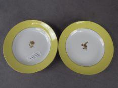 zwei alte Meissen Teller mitte 19. Jahrhundert mit Goldrose 1.Wahl Durchmesser ca:18,5cm
