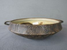 Keramik Schale von Lund Denmark Länge:33cm Höhe:11cm 1960er Jahre