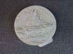 Porzellanplakette Meissen 5cm Durchmesser