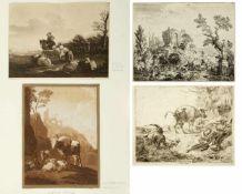 Kobell, Willhelm von. Berchem, Nicolas. Klein, Johann. Dietrich, Christian u.a.