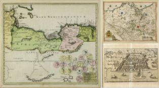 Landkarten, Ansichten u.a.