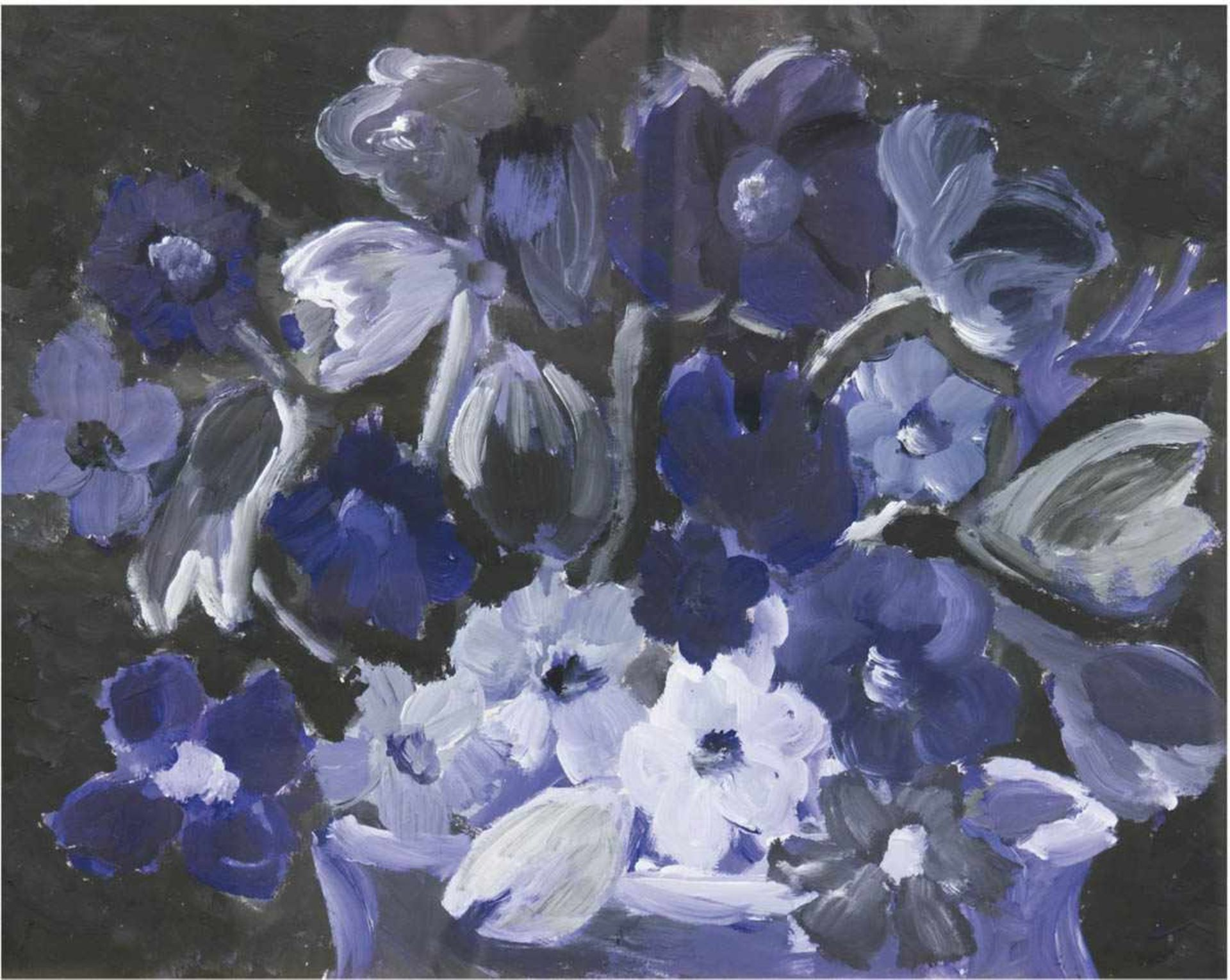 "Maler des 20. Jh. ""Blütenwunder"", Pastell/Papier, unsign., 40x51 cm, hinter Glas undRahmen"