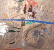 """Jagieko-Wassilewska, Marzena, """"Komposition"""", Öl/Lw., sign. und dat. 1992 u.r., 130x130 cm(aus der"""