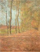 """Brockhusen, Theo von (1882 Marggrabowa-1919 Berlin) """"Prignitzer Dorfstraße"""", um 1905,Öl/Lw., sign."""