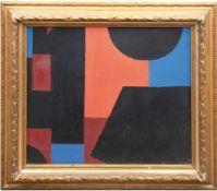 """Engst, Georg (geb. 1930 Hamburg-ansässig in Jersbek) """"Abstrakte Komposition mit Blau,Orange und"""