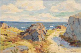 "Gregers, A. ""Sommertag an der Ostsee"", Öl/Lw., sign. u.r., 30x40 cm, Rahmen"