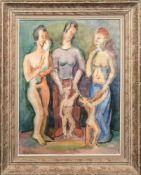 "Hartmann, Erich (1886 Elberfeld-1974 Sylt) ""Mütter mit ihren Kindern"", Aquarell, sign. u.dat. u."